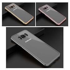 para Samsung Galaxy S8 ULTRAFINA LATERALES CROMADOS Metálico Cuero Sintético