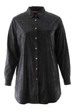 MARINA RINALDI Women's Black Fabriano Snake Embossed Shirt Jacket $485 NWT