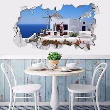 3D Isola di Santorini 3 Parete Murales Adesivi Decal Sfondamento AJ WALLPAPER IT
