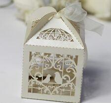 BIANCO Bird Cage WEDDING OMAGGI / scatole