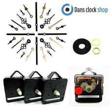 New 10 Pack Silent Supersweep Quartz Clock Movement Mechanism Motor Metal Hands