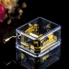 Transparent Hand Crank Mechanical Music Box Musical Toy Creative Kids Gift Tidy