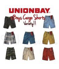 UNIONBAY Lightweight Pull-On Cargo Shorts for Boys - Elastic Waistband FREE SHIP