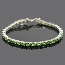 Natural Tsavorite Garnet Gemstone 925 Sterling Silver Tennis Bracelet