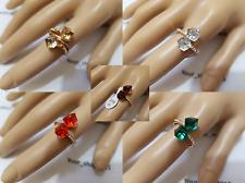 Unique Stylish Quality Fashion Rhinestone Czech Glass crystal cut bead Rings