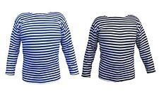 Striped Flannel Sweater T-shirt Winter Uniform Russian USSR Soviet Military Army