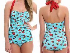 Esther Williams Halter Annie Frock One Piece Bathing Swim Suit Swimwear 4-16