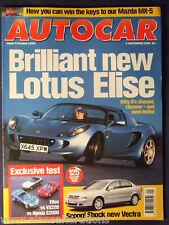 AUTOCAR Magazine 6th December 2000 Lotus Elise