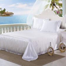 Satin Sheets King Queen Silky Sheet Set Fitted Sheet + Flat Sheet + Pillow Case