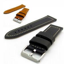 Condor Elite pesado de cuero de becerro reloj correa 644r paralelo lados 22mm 24mm 26mm
