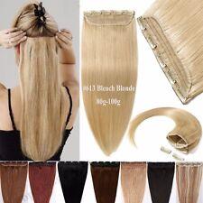 Dick Haarteil Clip in 100% Remy Echthaar Extensions Haarverlängerung Blond hc85k