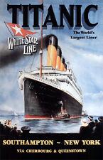 "Vintage White Star Line ""Titanic"" Poster 11 X 17"