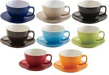 Price & Kensington Extra Large Soup Mugs & Saucers Cappuccino Mugs Bright Colour