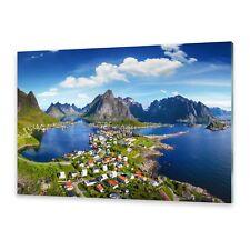 Glasbilder Wandbild Druck auf Glas Lofoten norwegen