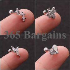 18g Crystal Barbell Ball back bar Cartilage Tragus Helix Stud Piercing Earring D