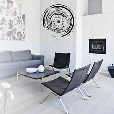 Sticker mural Horloge géante L'AIR DU TEMPS CHIFFRES ROMAINS+mécanisme aiguilles