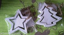 Weihnachtsanhänger  aus Holz - Stern + Tannenbaum zur Auswahl - shabby chic NEU