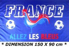 * COUPE DU MONDE 2018 * DRAPEAU 150 X 90 CM FRANCE FRANCAIS TRICOLORE FOOTBALL
