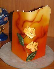 5-Docht-Kerze-Schmuck-und Motiv-Kerze mit Rosen-Design*verschiedene Farben