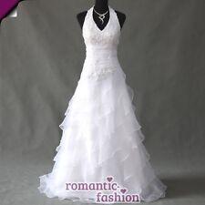 ♥Brautkleid, Hochzeitskleid Maßanfertigung alle Größen Weiß oder Creme+W041nM♥