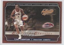 2002 Fleer Authentix WNBA Courtside Classics #10CC Tina Thompson Basketball Card