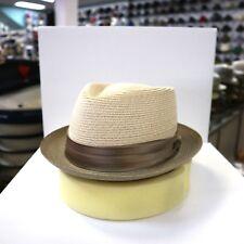 BILTMORE HEMP BEIGE/TAUPE STINGY BRIM TRILBY DRESS HAT