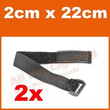 2pcs 2x22cm Elastic Strap Hook Loop Fastener Bungee Belt Wrap Tie Fishing Hiking