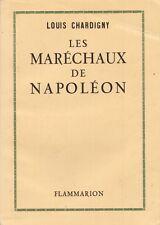 LES MARECHAUX DE NAPOLEON - CHARDINY E.O 1946 N° SUR VELIN