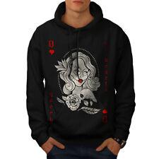 Wellcoda Queen Beautiful Mens Hoodie, Beauty Casual Hooded Sweatshirt