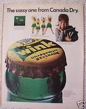 WINK CANADA DRY VINTAGE AD  1966