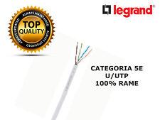 MATASSA da 25 a 305m Ethernet Cat 5E UTP PVC cavo di RETE Flessibile LAN BTICINO