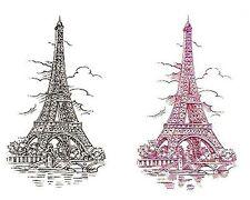 Eiffel Tower Red or Black Waterslide Ceramic Decals Tx