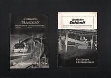 N°1747 / 2 bulletins EICKHOFF matériel d'extraction miniére   1938-39