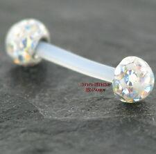 Cejas PTFE vara y moldeable 1,2mm pedrería balas cristales Multicolour brigde