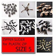 Zip Slider No5 Plastic Spiral Zip Fix Zipper Repair Zip Sliders Slider Pull Zip
