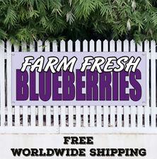 Banner Vinyl Blueberries Farm Fresh Advertising Sign Flag Fruit Produce Farmers