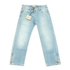 9192G jeans bimba azzurro BURBERRY pantaloni cotone trousers kids