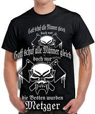 DIE BESTEN MÄNNER WURDEN METZGER Fleischer Schlachter Zunft Totenkopf T-Shirt