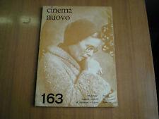 rivista CINEMA NUOVO n°163 - MAGGIO-GIUGNO 1963