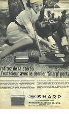 PUBLICITE ADVERTISING 1963  SCHARP le transistor portatif stéréo
