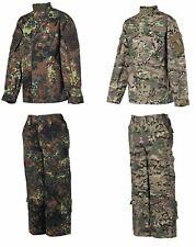 KINDER-ANZUG Cargohose Jacke Kombination Set Tarnanzug Outdoorbekleidung Kids