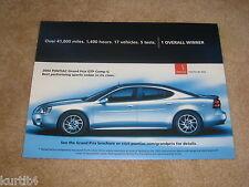 2004 Pontiac Grand Prix GTP Comp G sales dealer brochure sheet literature