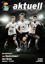 WM-Qualifikation 07.09.2012 Deutschland - Färöer / Faroe Islands in Hannover