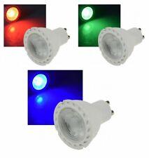 """LED FOCO GU10"""" lds-50"""" 38 °, 230v 5 VATIOS, color CLARO ROJO, Verde O AZUL"""