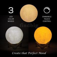 3 COLOR 3D USB LED Magical Moon Light Moonlight Desk Decor Remote Lamp USA Ship