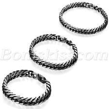 Men's Vintage Punk Biker Fashion Stainless Steel Link Bracelet Cuban Curb Chain