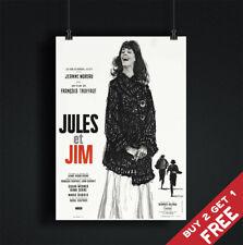 Jules y Jim * 1962 película Poster A3 A4 Clásico De Colección De Película Art Print Truffaut