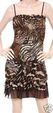 Safari Leopard/Zebra/Tiger/Giraffe Smocked Dress S