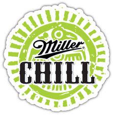 Miller Chill Logo Sticker Car Bumper Decal- 3'' or 5''