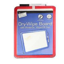 A4 Dry Wipe MAGNETIC BACKED WHITEBOARD or BLACKBOARD Office - Stick to Fridge UK